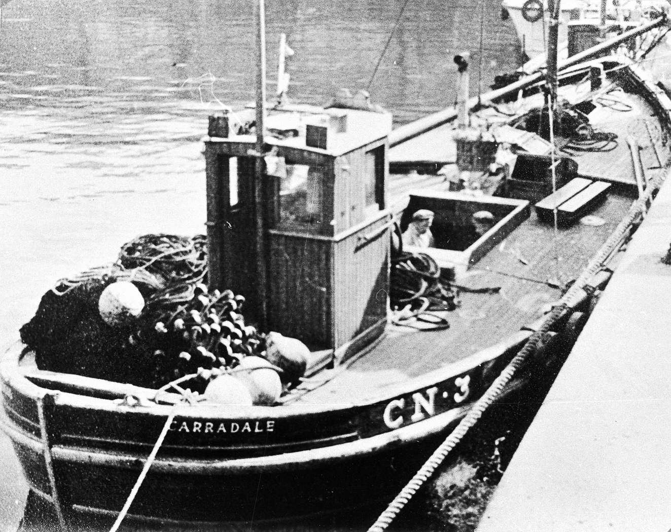 'Watercress', CN3 in harbour, Campbeltown. Possibly pictured - Robert McDougall, Campbeltown