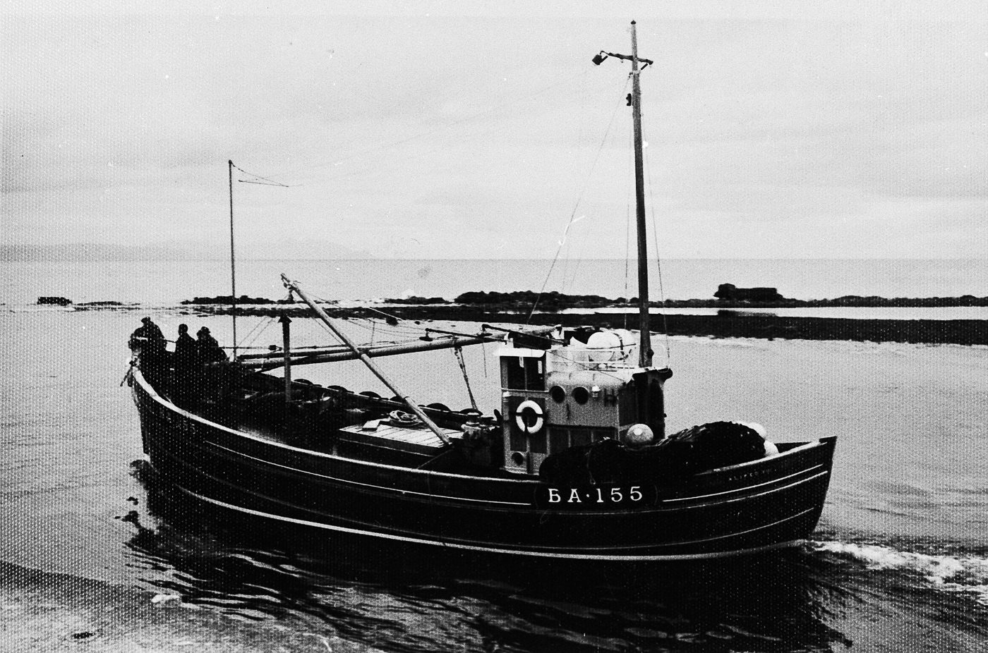Ringnetter 'Aliped VIII', BA155, in harbour, Girvan. She was owned by the McCrindle family of Girvan.