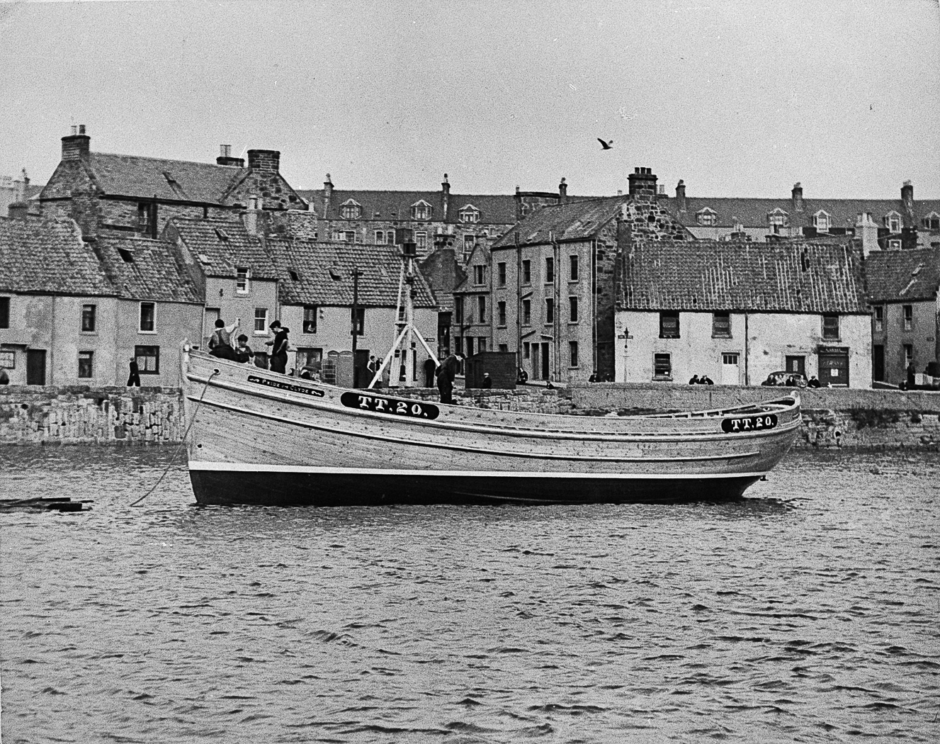 Ringnetter 'Pride of the Clyde', TT20, in harbour, St Monans, 1949.