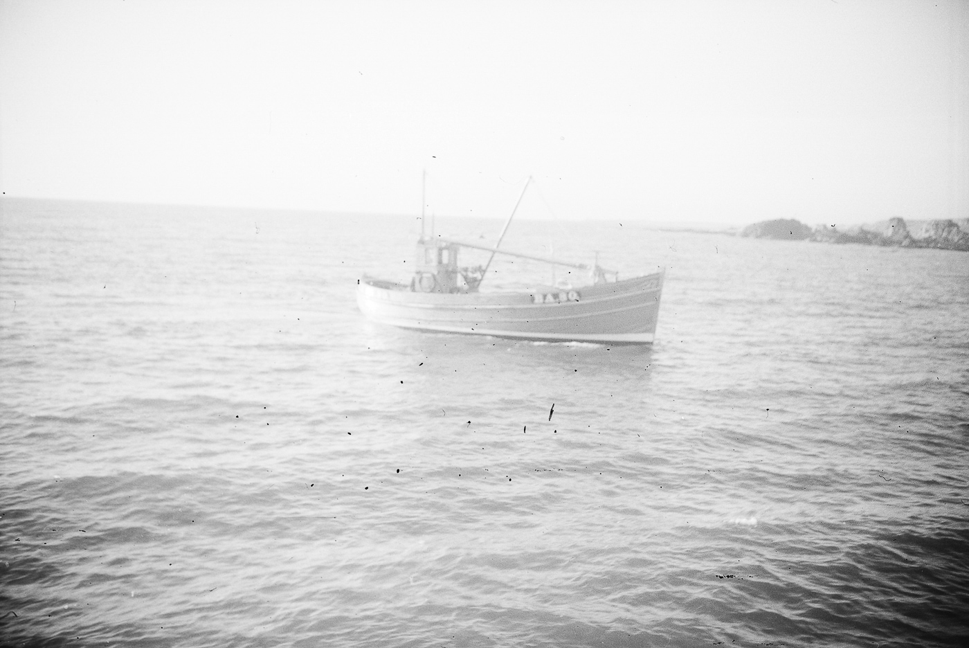 """Dual purpose ringnetter and seiner, 'Girl Anne', BA80, St Monans, 1949. She was built by J. N. Miller, St Monans, for West Coast owners. She was 39ft 9"""" long and weighed 14 tons. She is possible pictured here on her boat trials."""