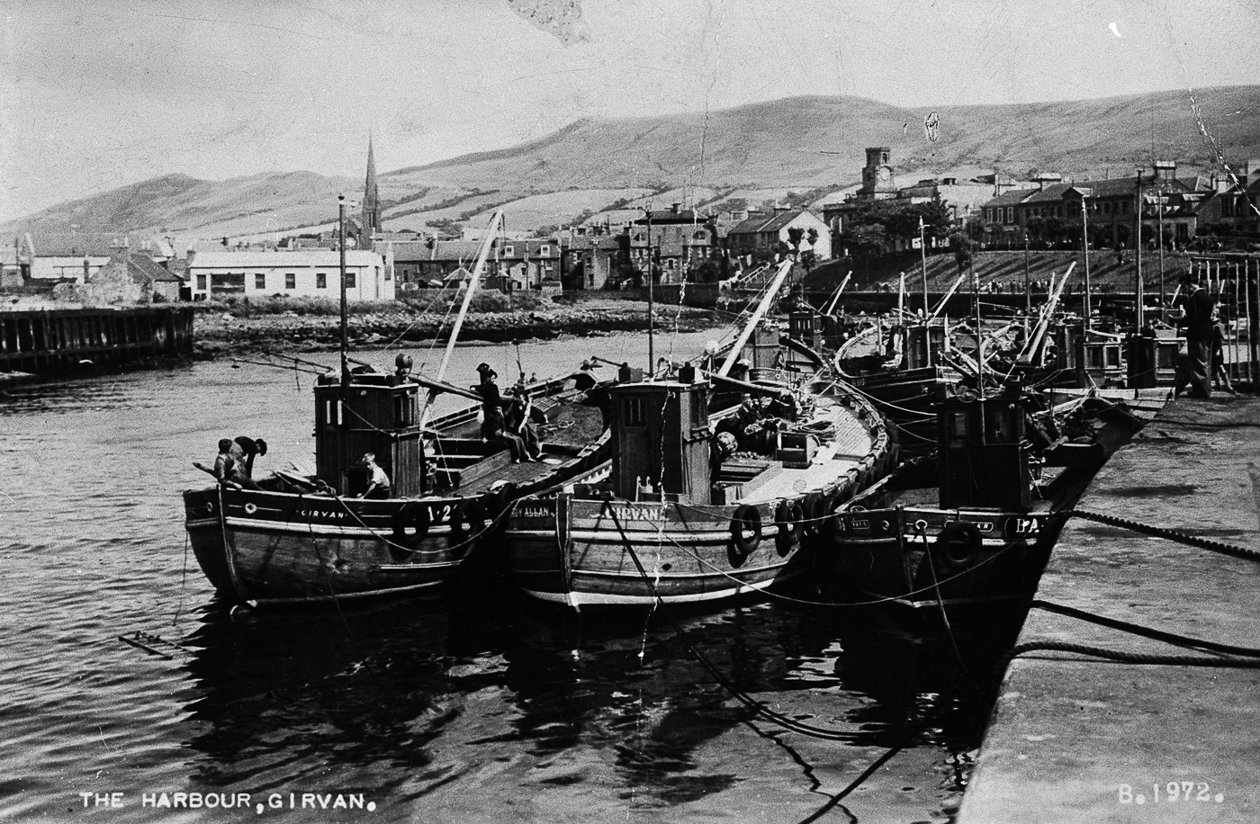 Postcard entitled 'The Harbour, Girvan', c.1949